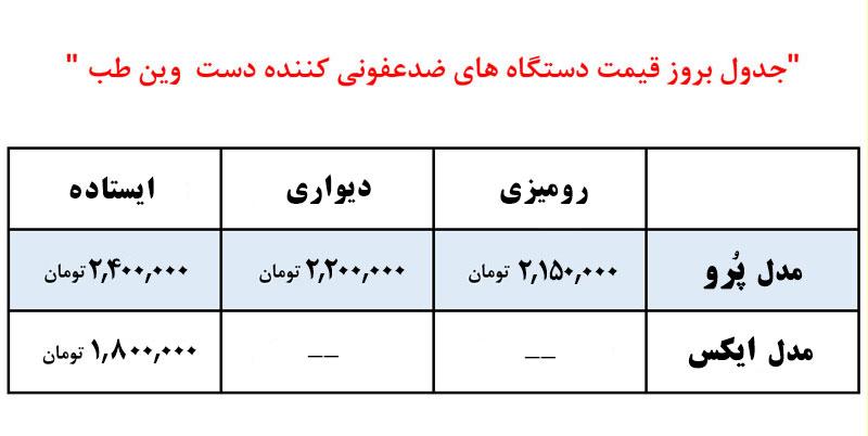 قیمت دستگاه ضد عفونی کننده دست
